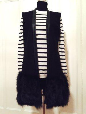 Luxus-Weste mit Pelz und Leder