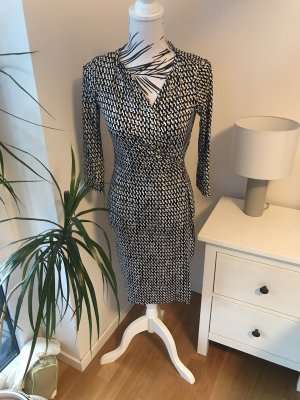Diane von Furstenberg Midi Dress black-white