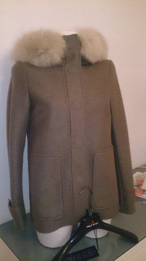 Luxus Wolljacke mit Fuchspelz