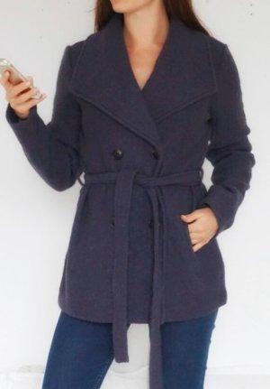 Luxus Wollmantel Kurzmantel Jacke 100% Wolle dunkelgrau 38 M NEU