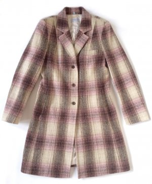 Blue Strenesse Wool Coat multicolored new wool