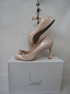 Luz Da Lua by Prada ´Luxus Lackleder Pumps Skurrile Absätze NP 299 € Neu