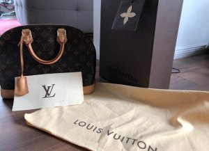 Louis Vuitton Borsa messenger marrone-nero