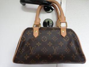 Mini Bag brown-light brown imitation leather