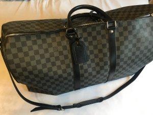 Louis Vuitton Bolso de viaje negro-color plata