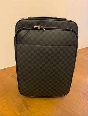 Louis Vuitton Suitcase anthracite-black leather