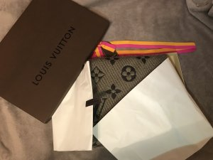Louis Vuitton Knitted Scarf grey-black