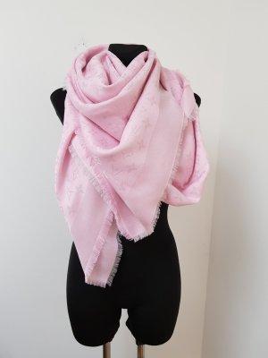 Louis Vuitton Écharpe argenté-rose clair