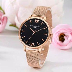 LVPAI Uhren Frauen Edelstahl Armband Analog Quarzuhr 2018 Luxusmarke Beiläufige Armbanduhren Montre femme 18FEB24