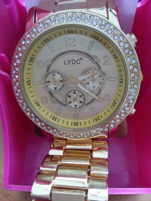 LYDC London Armbanduhr XXL Gold NEU