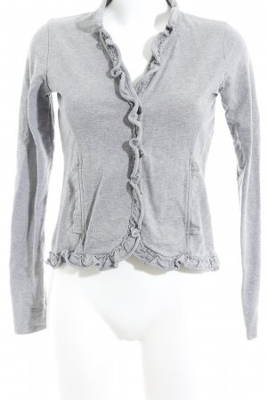lykkelig Giacca corta grigio chiaro-grigio puntinato stile casual