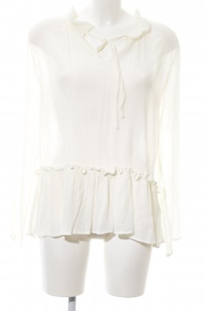 lykkelig Transparenz-Bluse wollweiß Elegant