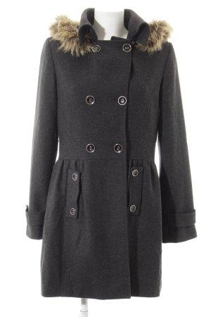 lykkelig Cappotto in lana grigio scuro stile casual