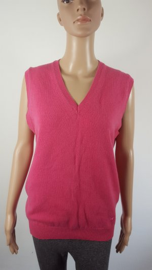 Lyle & Scott Club Slipover Damen Pullunder Strick bright pink Größe L NEU