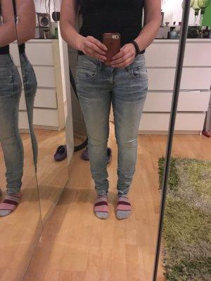 LYNN MID SKINNY - Jeans Skinny Fit - bleached denim