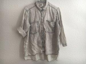 Lyocell Bluse weiß grau