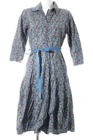 Lyogaard A-Linien Kleid florales Muster Vintage-Look