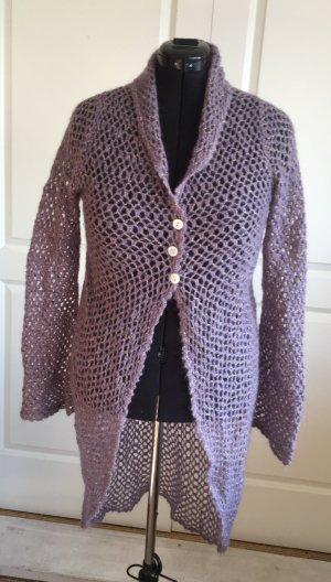 by Lysgaard Chaqueta larga violeta grisáceo-color oro tejido mezclado