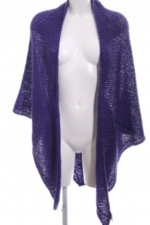 Lysgaard Knitted Poncho lilac casual look