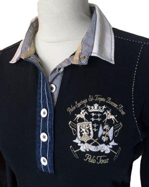 M 38 40 L´ARGENTINA Stretch Polo Hemd shirt jeans blau tiptop