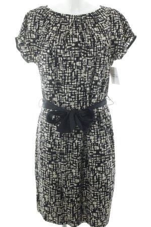 M. Asam Etuikleid schwarz-creme abstraktes Muster Business-Look