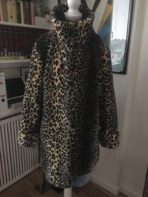 M.Asam Kunstfell Mantel Leoparden Animalprint