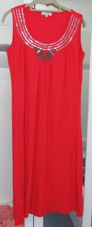 M.Asam/QVC Kleid, Trägerkleid in rot, Gr. 42