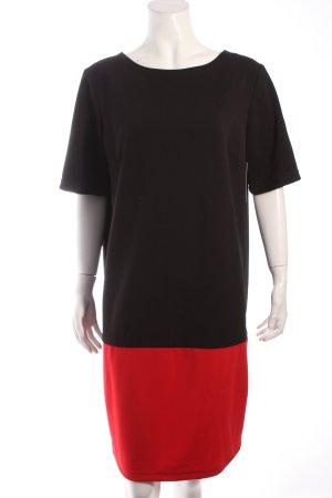 M by Maiocci Kurzarmkleid schwarz-rot extravaganter Stil