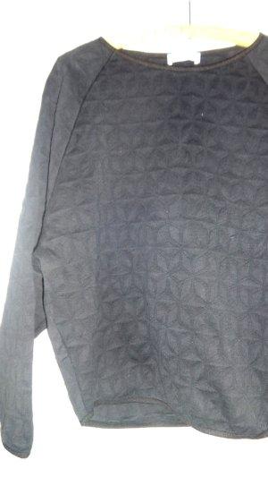 Kraagloze sweater zwart Lyocell