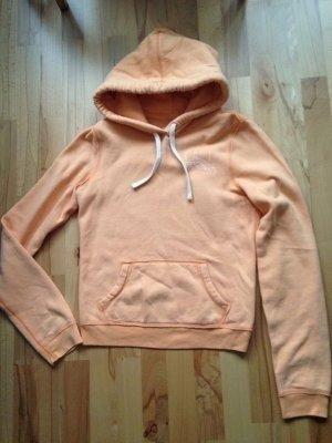 M Hollister orange Hoodie-Pullover