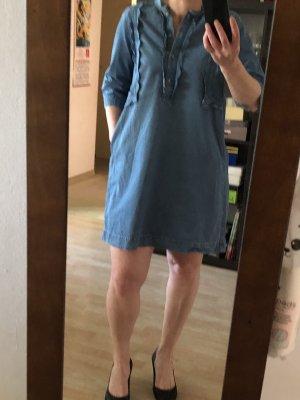Mih jeans Robe tunique bleu coton