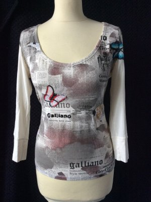 Galliano T-shirt room Gemengd weefsel