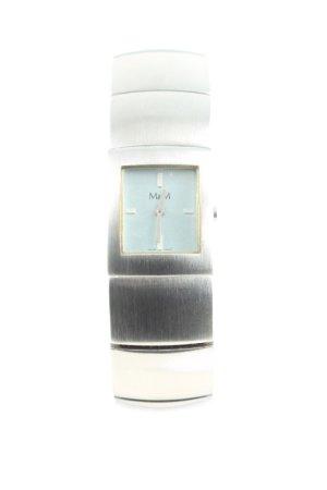 M&M Uhr mit Metallband silberfarben schlichter Stil