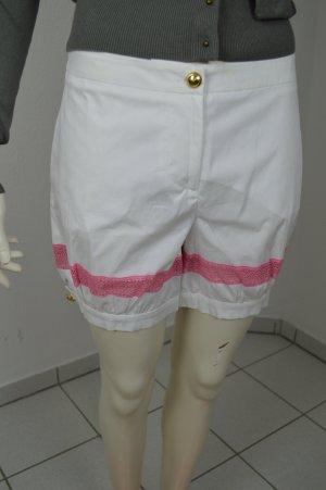 M Missoni Feminine kurze Hose - Weiß / Pink, Gr. 36, NP: 230€