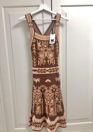 M Missoni Jacquard-Strick Kleid mit Rückenausschnitt