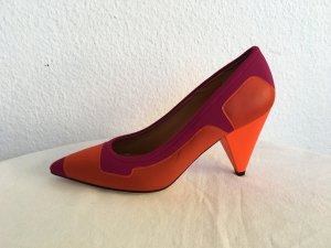 M Missoni, Pumps, Satin/Leder, pink/orange, 39, neu, € 1.900,-