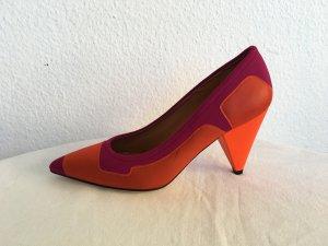 Missoni Tacco alto magenta-arancio neon Pelle