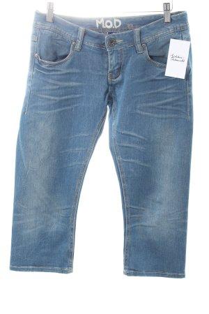 M.O.D. 3/4 Jeans stahlblau-wollweiß Casual-Look