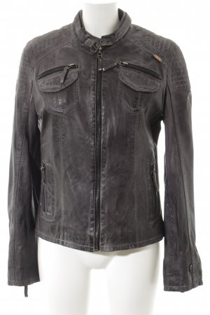 M.O.D. Lederjacke anthrazit Street-Fashion-Look