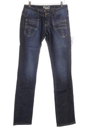 M.O.D. Straight-Leg Jeans graublau Jeans-Optik