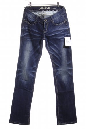 M.O.D. Stretch Jeans stahlblau Jeans-Optik