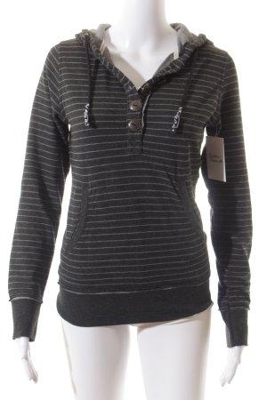 M.O.D. Sweatshirt dunkelgrau-weiß Streifenmuster