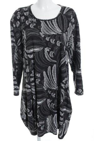 m.p. Berlin Robe à manches longues motif abstrait style décontracté