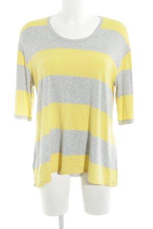 m.p. Berlin Camisa de rayas amarillo-gris estampado a rayas look casual