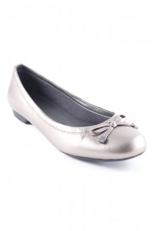 M&S Bailarinas plegables color oro elegante