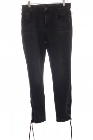M&S Indigo Collection Slim Jeans schwarz Biker-Look