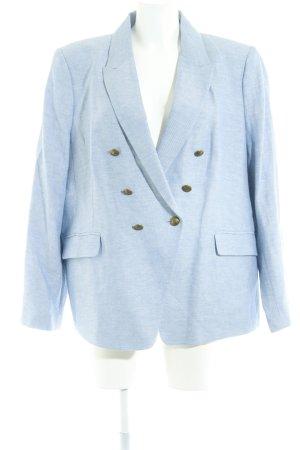 M&S Kurz-Blazer himmelblau-weiß meliert Business-Look