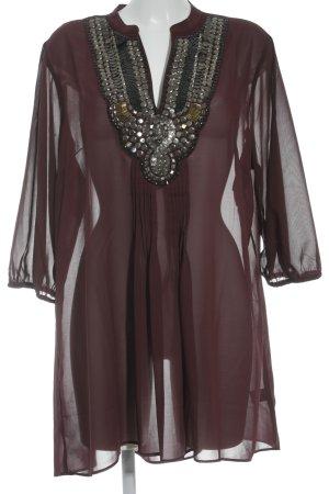M&S Langarm-Bluse bordeauxrot Elegant