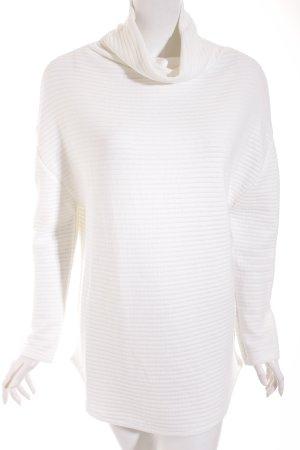 M&S Rollkragenpullover weiß Streifenmuster Casual-Look