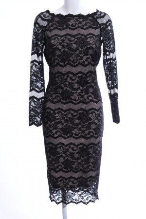 M&S Lace Dress light grey-black casual look